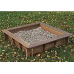 Zandbak hardhout vierkant met afdekzeil 120x120x30 cm