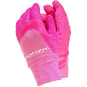Master Gardener werkhandschoenen roze - Maat S