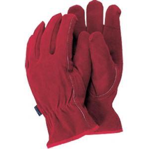 Premium leather werkhandschoenen rood - Maat L