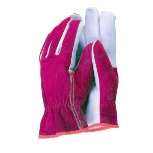 Premium leather werkhandschoenen rood/wit - Herenmaat L