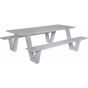 Picknicktafel Breeze aluminium grijs