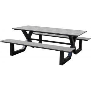 Picknicktafel Family aluminium grijs