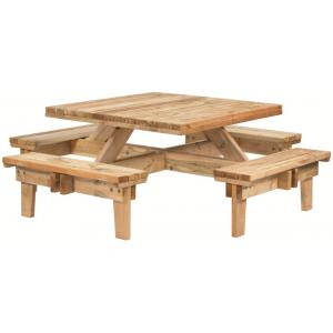 Picknicktafel vierkant geïmpregneerd
