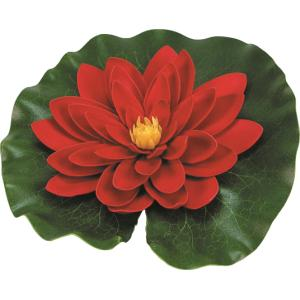 Waterlelie rood kunststof 14cm