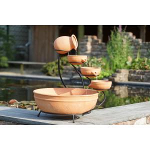 Terracotta watervalelement klein