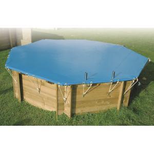 Afdekzeil voor zwembad achthoekig - Afdekzeil 410 - 6 hoekig