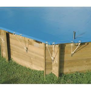 Afdekzeil voor zwembad rechthoekig - Afdekzeil 350 x 650