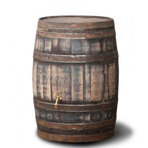 Houten regenton hergebruikt robuust 195 liter